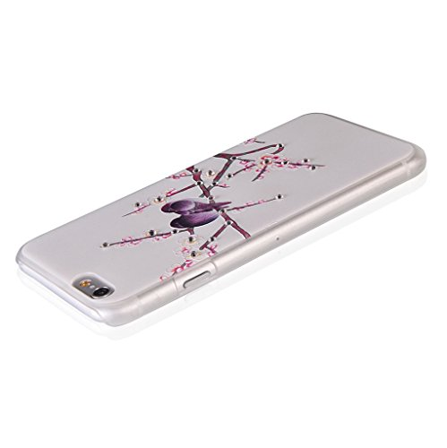 UKDANDANWEI Apple iPhone 6 Plus Hülle Case - Bling Strass Ultra Dünn Hart PC Hülle Glitzer Rückseite Slim Etui Schale für Apple iPhone 6 Plus -27 Bling-05
