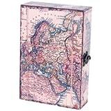 Caja Llavero Decorativa Mapamundi. World Map. Guardallaves. 30 x 20 x 7.5 cm.