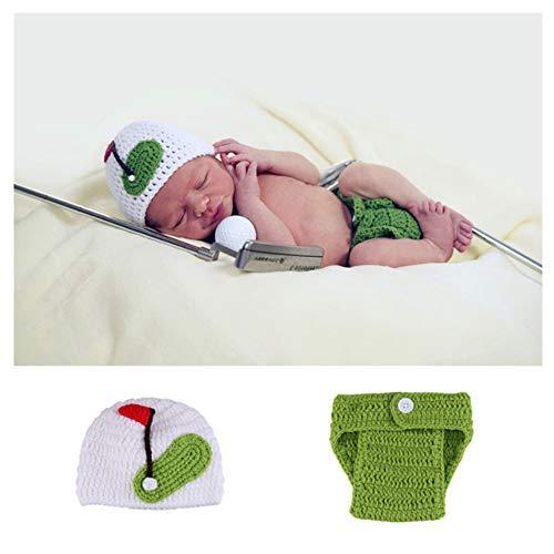 NROCF Neugeborenes Baby Cute Golf Cap Strickmütze, Häkeln Kleidung Kleidung Foto Fotografie Requisiten, Geeignet Für 0-3 Monate Baby (Super Cute Baby Kostüm)
