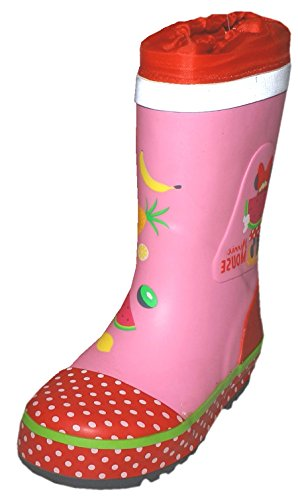 maximo Minnie Mouse Mickey Mouse Reflective Wellington Boots Pink/Red