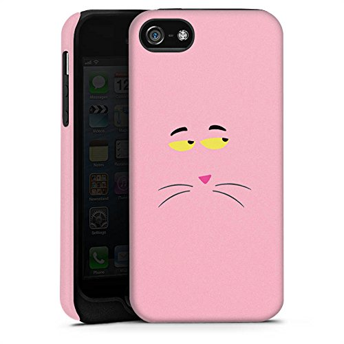 Apple iPhone X Silikon Hülle Case Schutzhülle Pink Panther Katze Cat Tough Case matt