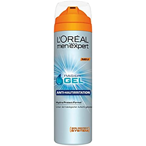 L'Oréal Paris A5116202 - Gel de afeitar anti-rastrojos con efecto nutritivo, anti-irritación