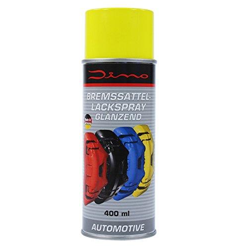 Dino Bremssattellackspray Bremssattel Lack Spray Bremsenlack Bremssattelfarbe Bremssattel Farbe 1-K Lackspray 400ml gelb