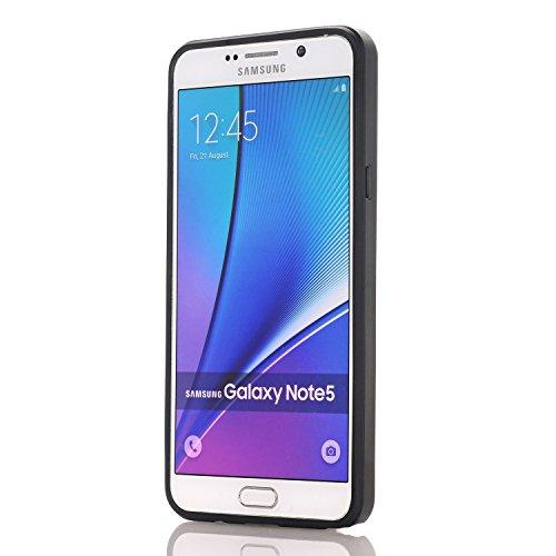 Galaxy Note4 Coque,EVERGREENBUYING [Slider Series] Ultra Slim léger 2 en 1 N9100 Cases [Porte coulissante semi-automatique][Housse de Protection] [Fente pour Carte] Cover Pour Samsung GALAXY Note 4 Ro Blanc