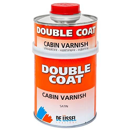 De IJssel Double Coat Cabin Varnish 2K Bootslack - 750 Gramm Set - Klarlack seidenglanz (Yachtlack)