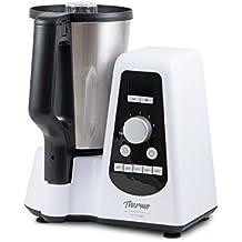 Robot de cocina multifunción tamaño compacto con capacidad de 1,5L. Ideal para cocinar todo tipo de recetas: tritura, trocea, ralla, bate, amasa, cocina, emulsión y pica hielo