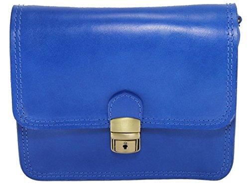CTM Petit sac pour femmes. Porte-documents, 20x17x6cm, 100% véritable cuir Fabriqué en Italie