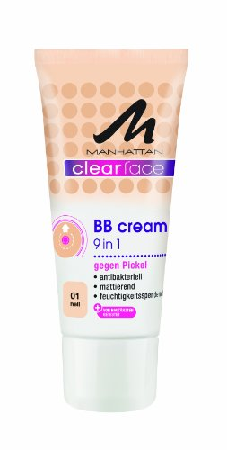 Manhattan Clearface 9 in 1 BB Cream 01, 1er Pack (1 x 25 ml)