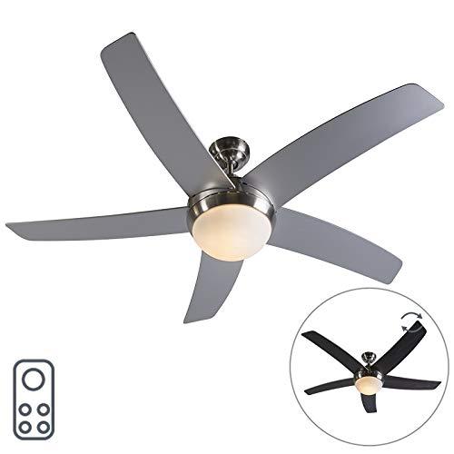 QAZQA Diseño Ventilador de techo con luz y mando a distancia con...