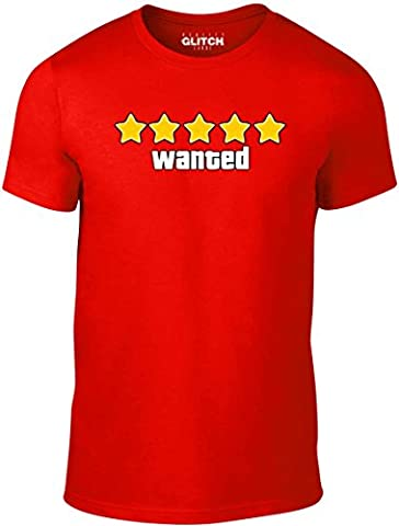 Bullshirt T-shirt pour homme Wanted T-shirt., Red, Taille M