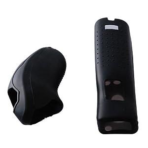 OSTENT Soft-Silikon-Hülle Skin Tasche kompatibel für Nintendo Wii Remote Nunchuk Controller Farbe Schwarz