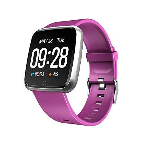 SPORS Große Anzeige große Batteriekapazität Uhr, Multifunktionsuhr, Herzfrequenz-Blutdruck-Blutsauerstoff-Überwachungsuhr, Schlafüberwachungsinformations-Anzeigenuhr-Purple