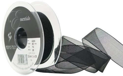 Super Sheer (Berisfords 25 mm Super Sheer Ribbon, Black by Berisfords)