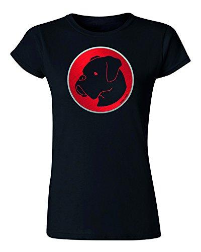 Ladies Dog Retro Damen T-Shirt *Wählen Hund* (Womens T-shirt Boxer)