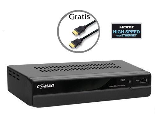 Comag HD 25 HDTV Satelliten Receiver (HDMI, SCART, USB 2.0, inkl. HDMI Kabel) schwarz