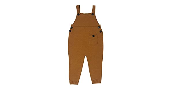 Girls Boys Cotton Jumpsuit Jeans With Buttons 1-5 Years Yellow//Red//Gray//Dark Blue//Brown junkai Baby Kids Dungarees