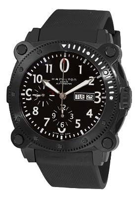 Hamilton H78686333 - Reloj de automático para hombre, con correa de goma, color negro