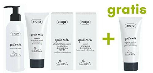 Ziaja Ziegenmilch Ultraleicht Gesichtspflege-Set mit GRATISPRODUKT