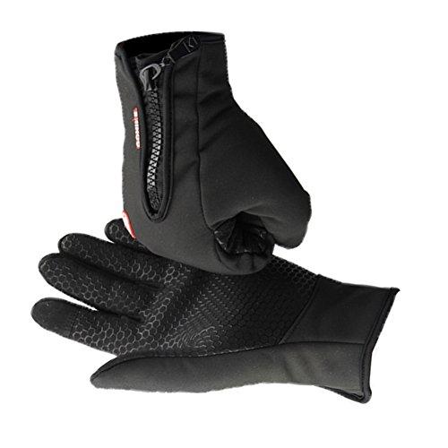phego Touchscreen Handschuhe Outdoor Sport Damen Warme Fahrradhandschuhe Winddicht und Touchscreen geeignet (L) - 3