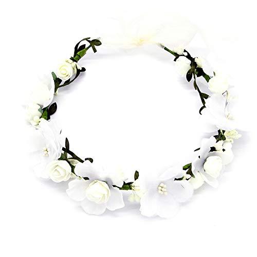 Shuda Blumenkranz,Schön Blumen Stirnband Blumenkrone Boho Blumen Haarkranz Brautbrautjungfern...