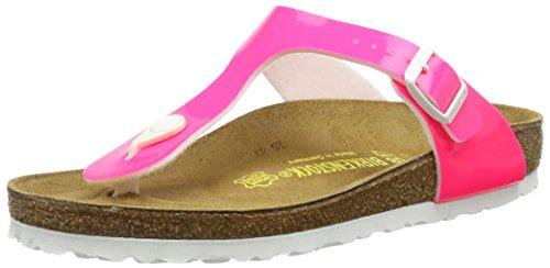 Birkenstock Gizeh - Sandali con Cinturino alla Caviglia Donna, Rosa (Pink (Neon Pink Lack)), 37 EU