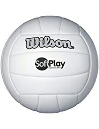 Wilson Soft Play voleibol al aire libre, color blanco, tamaño Official