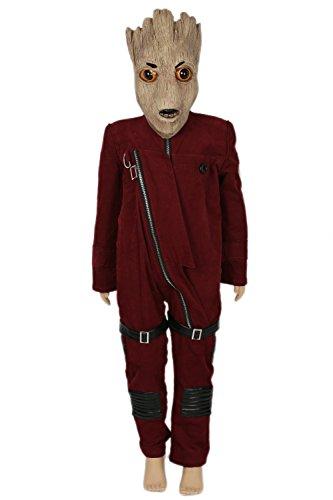 Kinder Kostüm Cosplay Anzug Halloween Deluxe Dunkel Rot Onesies Fancy Dress Outfit Kleidung (Groot Für Kinder Kostüme)