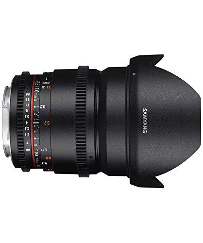 Samyang 16 mm T2.2 VDSLR II Manual Focus Video Lens for Nikon DSLR Camera