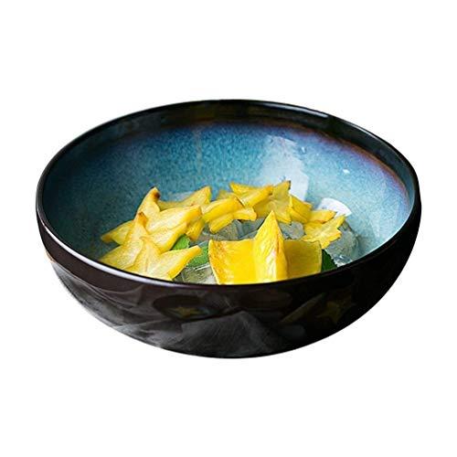 ACZZ Vintage Japanischen Stil Pastell Reis Schüssel Chinese Bone China Ramen Schalen Home Küche Geschirr Zubehör Obstsalat Container 23 * 8,2 Cm,23 * 8,2 CM (Bone Schüssel China Reis)