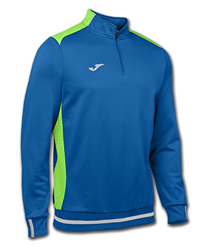 Joma Campus II Sweatshirt Zip-Top royal blau-neon grün royal blue-green fluor, L -