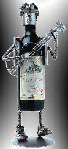 Boystoys HK Design Weinflaschenhalter Musiker mit Gitarre - Metall Art Weinflaschen-Deko &...
