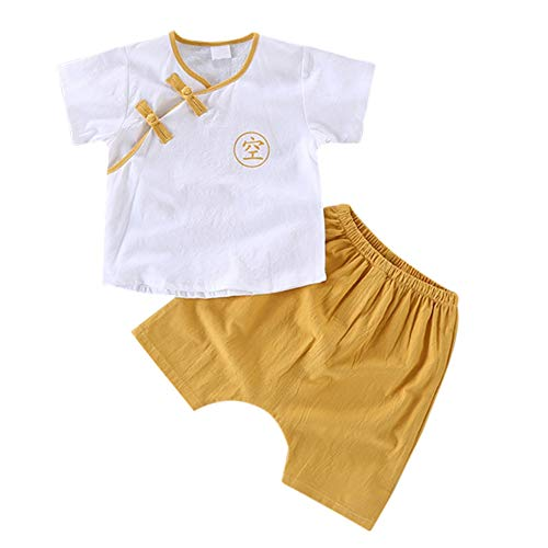 ChYoung Baby Jungen Outfits Tang Kostüme Tops und Kurze Hosen Kinder chinesische Antike ()