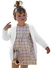 Bebé chaqueta abrigos,Yannerr niñas Otoño invierno sólido ropa outwear Tops caliente