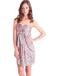 b4ec6b03f2 Jarlo Crystal Bandeau Leopard Print clubbing party Dress Size UK 12