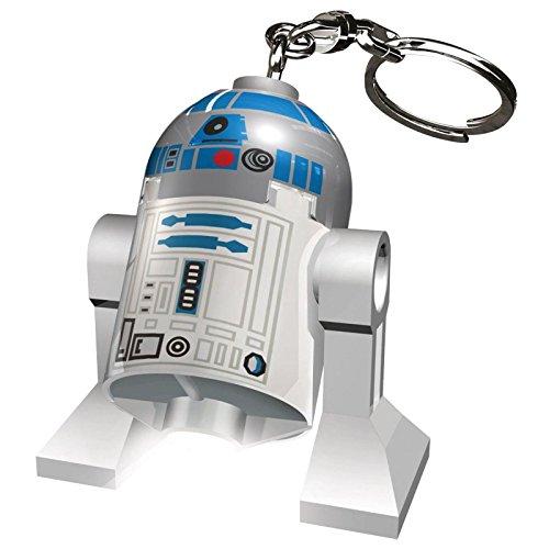 LEGO-Schlüsselanhänger, Taschenlampe, Schlüsselanhänger mit 18 Charakteren, LED-Taschenlampe, Film, Star Wars, Freunde, DC Superhelden, Batterien im Lieferumfang Enthalten, Star Wars R2-d2
