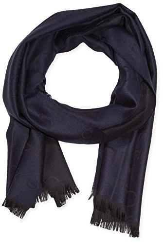Calvin Klein Jeans Herren Schal Logo 2 Scarf Gr. One size (Herstellergröße: OS) Mehrfarbig (BLACK/NAVY 905) -