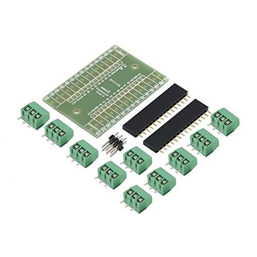 Terminal-adapter-kit (Blau Erweiterungsplatine Terminal Adapter DIY Kits für Arduino Nano IO Shield V1.0 Anwendung IN Rechner - Blau)