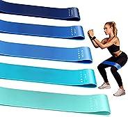 Elastiche Fitness, [Set di 5] Bande di Resistenza Fitness, Bande Elastiche di Resistenza, 5 Livelli di Resiste