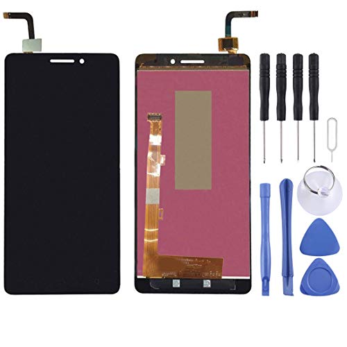 YCZLZ Display-Touch Screen für Lenovo Handy-Zubehör LCD-Bildschirm und Digitizer Vollversammlung for Lenovo Vibe P1M / P1MC50 (Schwarz) + Tools (Farbe : Black)