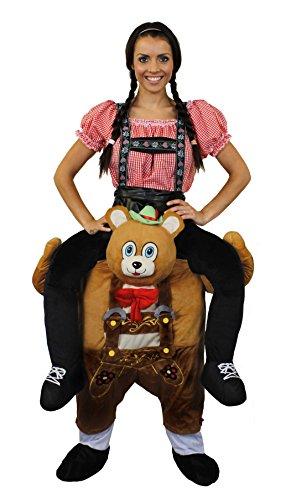 ILOVEFANCYDRESS Trage Mich-Hebe Mich HOCH-KOSTÜME Verkleidung = BAYRISCHER Teddy BÄR der Frau TRÄGT=Fasching+Karneval MIT Dem Sie Garantiert AUFFALLEN =BÄR (Unterteil)+ Damen Oberteil ()