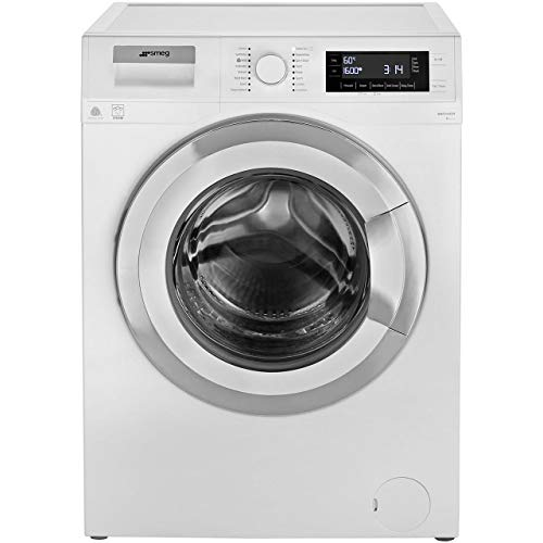 Smeg Wmf916Auk A+++ Rated Freestanding Washing Machine - White/Chrome