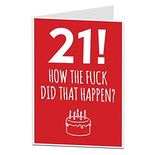 Funny 21st Birthday Card For Him Her Perfect Son Daughter Brothers Or Sisters Other Ages Available