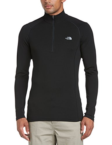The north face, m warm l/s zip neck, maglia, uomo, nero (tnf black), s