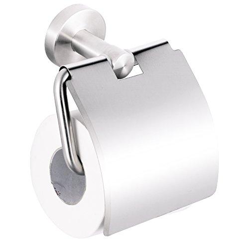 Smartweb WC Toilettenpapierhalter | Rollenhalter | Papierrollenhalter | Edelstahl | Wandmontage | Bad Zubehör Edelstahl matt gebürstet -