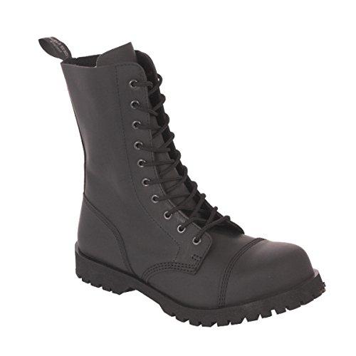 10-Loch Flat 601350 Black Stiefel Rangers Schwarz Stahlkappe Mono Größe 42 (UK 8)