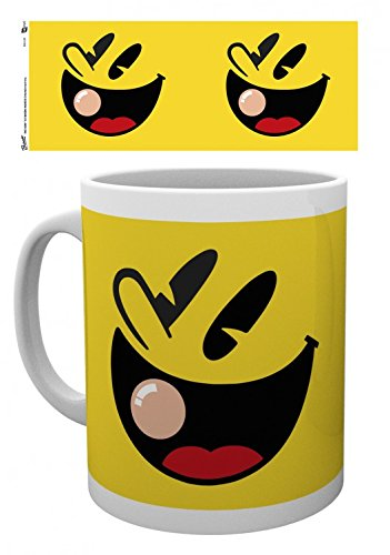 Set: Pac-Man, Faces Tazza Da Caffè Mug (9x8 cm) E 1 Sticker Sorpresa 1art1®