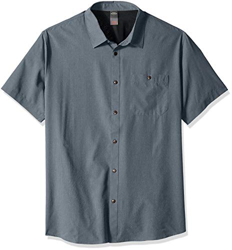 Quiksilver Herren TECH 2 Shirt Button Down Hemd, Orion Blue Heather, X-Groß -