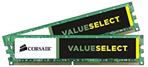 Corsair CMV8GX3M2A1333C9 Value Select 8GB (2x4GB) DDR3 1333 Mhz CL9 Standard Desktop Memory