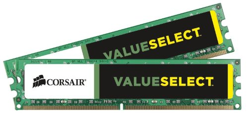 Corsair CMV8GX3M2A1333C9 Value Select 8GB (2x4GB) DDR3 1333 Mhz CL9 Standard Desktop Memory (Ddr3 1333 Desktop Speicher)