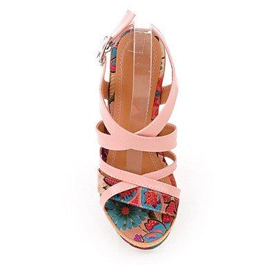 LFNLYX Donna Sandali Primavera Estate Autunno Comfort Novità materiali personalizzati similpelle Party & abito da sera informale Tacco a cuneo Beige rosa Pink